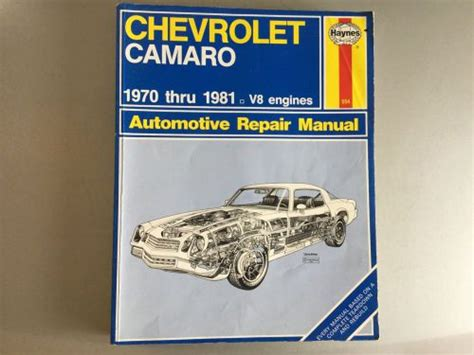chevrolet camaro repair manual for 1970 thru 1981 autos post buy 1970 1981 chevrolet camaro haynes shop manual v8 z28 rs berlinetta rally sport motorcycle in