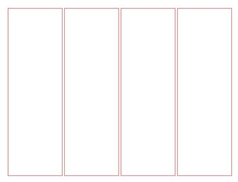 bookmark template for word 7 best images of blank bookmark template for word free