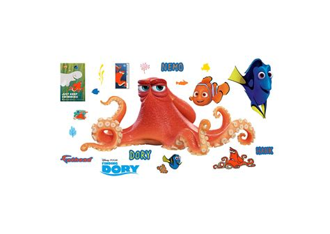 nemo wall stickers hank finding dory wall decal shop fathead 174 for finding