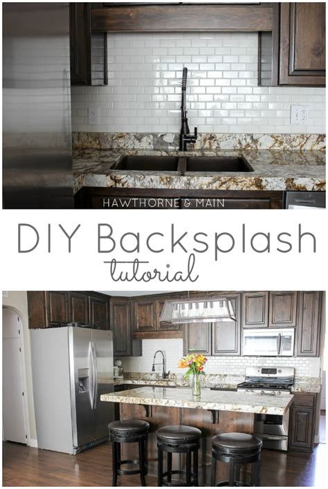 Backsplash Kitchen Diy hawthorne and main diy kitchen backsplash