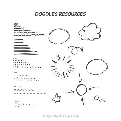 free doodle sketch vector circle doodles vector free