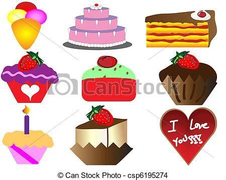clipart dolci vettore eps di dolce torte cartone animato cartone