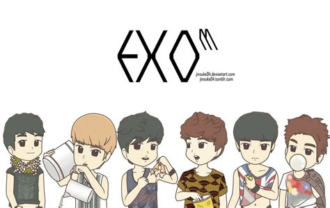 wallpaper exo cartoon exo m men s health by jinsuke04 on deviantart
