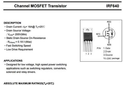 1n4004 diode frys transistor irf640n 28 images irf640n mosfet htf electronics irf640n power mosfet n channel