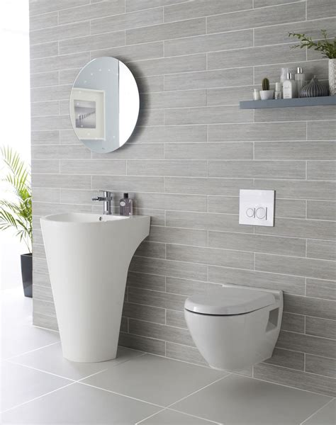 grey bathroom wall tiles we adore this white and grey bathroom complete with lavish