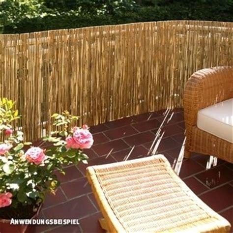 Natürlicher Sichtschutz Terrasse by Videx Sichtschutzmatte Schilfrohr F 246 Hr 100 X 600cm F 252 R