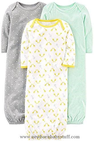 baby girl clothes simple joys  carters baby  pack cotton sleeper gown greywhite newborn