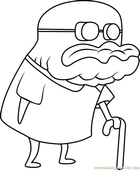 old man jenkins coloring page free spongebob squarepants