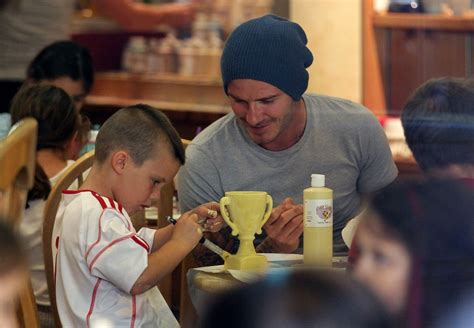 color me mine davie david beckham sighting with his sons at pottery painting