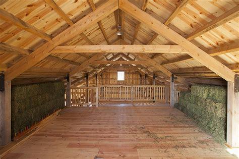 Hay loft inside a ponderosa country barn in iowa sand creek post amp beam flickr