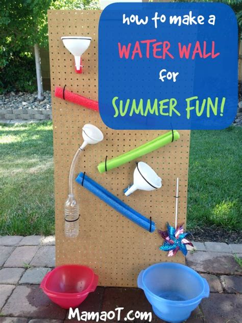 how to throw a summer backyard how to make a water wall for summer