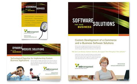 Internet Service Provider Flyer Templates Technology Service Provider Website Templates