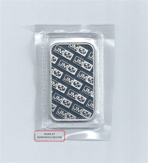 1 Oz Troy Silver Bar Value - johnson matthey jm 1 troy ounce 999 silver bar