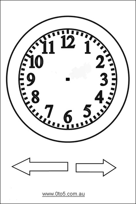 printable clock template with hands free printable clock patterns printable analogue clocks