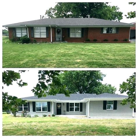 House Exterior Design Before And After by Paint Brick Exterior Before And After Gray Painted Brick