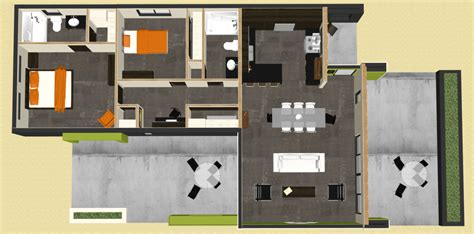 two bedroom modern house plans modern 2 bedroom house plan