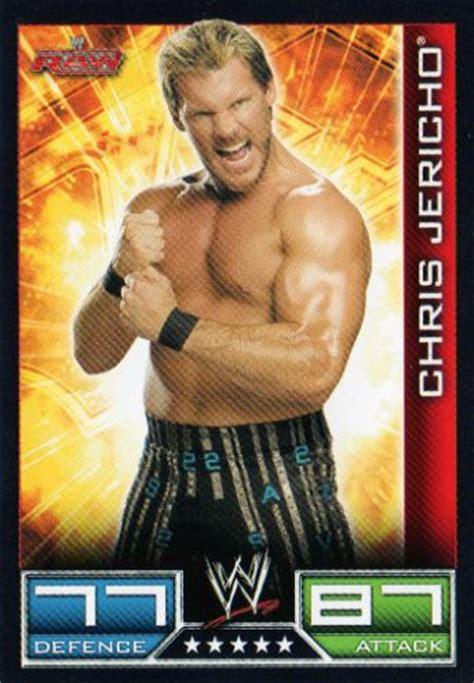chris jericho 58 2008 09 topps slam attax trading card