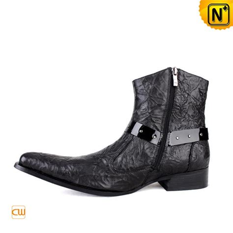s fashion black leather dress booties shoes cw701103