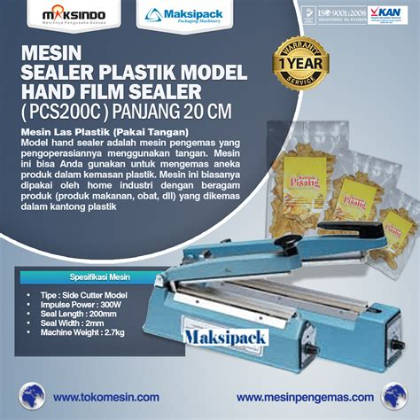 Heater Sealer Las Plastik 20cm mesin sealer msp 200a toko mesin maksindo toko