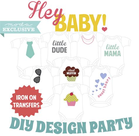 how to use printable iron on transfers a quot charm quot ing baby shower 171 modafabrics