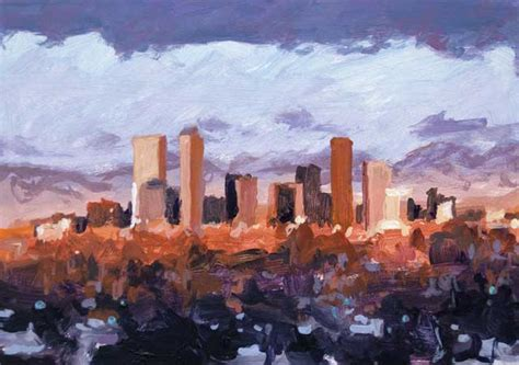 K Painting Denver by K Harrell Early Morning Denver 5 X 7