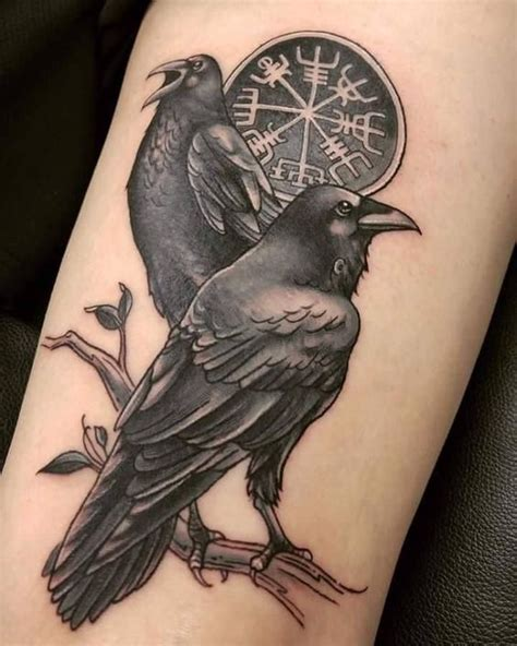 norse raven tattoo viking designs ideas and meanings me now