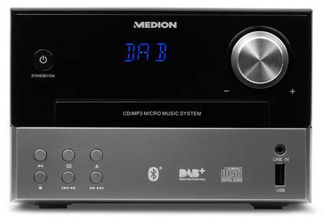 radio mit aux eingang medion 174 174 p64190 mikro audio system mit dab und