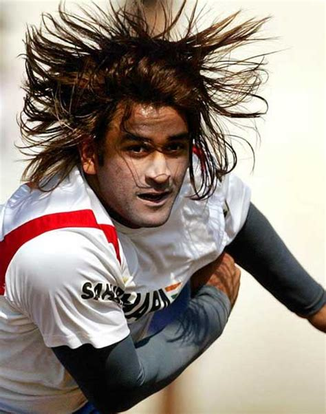 musharraf statement on dhonis hairstyles for long hair ms dhoni 30 more trophies less hair sport dna