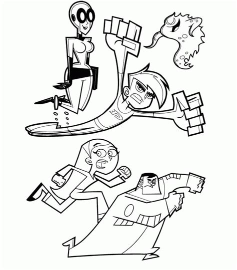 Danny Phantom Coloring Pages Coloringpagesabc Com Danny Phantom Coloring Pages