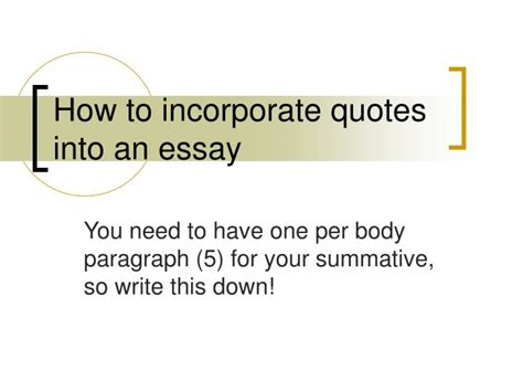 how to write a quote in a research paper how to incorporate quotes into a research paper