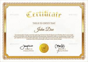 Downloadable Certificate Template by 38 Psd Certificate Templates Free Psd Format