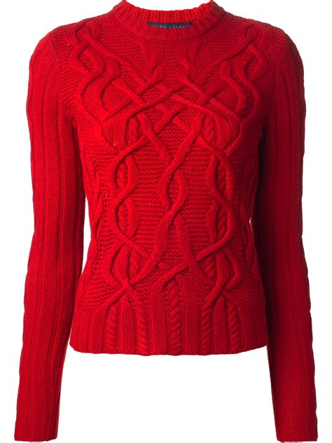 ralph cable knit sweater ralph blue label cable knit sweater in lyst