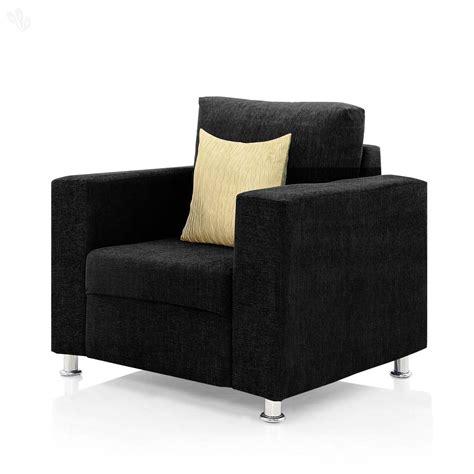 black fabric sofa set buy westido sofa set in black fabric 3 1 1 in india