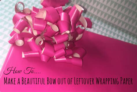 How To Make A Diary Out Of Paper - how to make a beautiful bow out of leftover wrapping paper