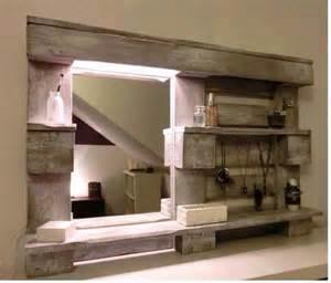 id 233 e de miroir pour salle de bain en palette bricod co