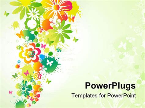powerpoint flower template high details vector illustration of flower background