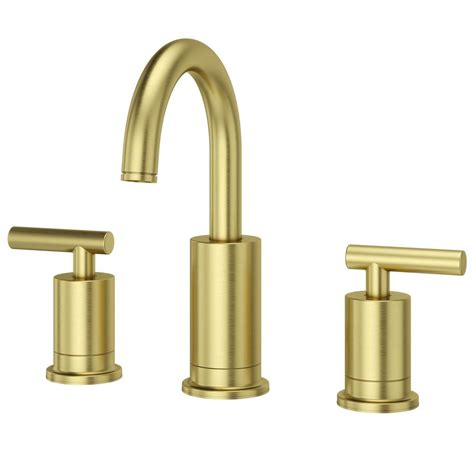 gold faucet bathroom pfister contempra 8 in widespread 2 handle bathroom faucet in brushed gold lg49 nc1bg the