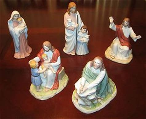 porcelain home interiors homco collectable jesus figurine lot