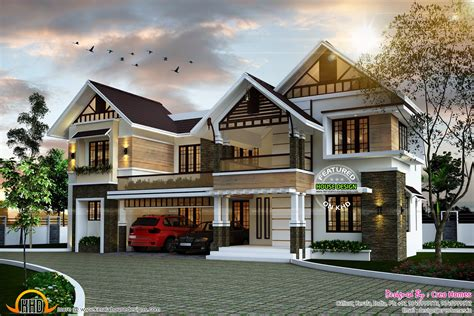 cute house designs sloping roof cute home plan kerala home design and floor