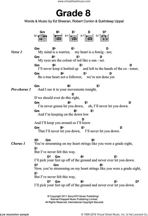 ed sheeran perfect lirik dan chord sheeran grade 8 sheet music for guitar chords