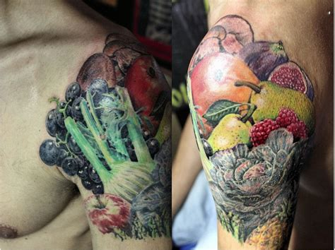 vegetable tattoo pinterest 28 best vegetable tattoos images on pinterest vegetable