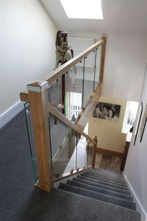 Glass Landing Banister by Glass On Bracket Staircases The Stair Glass Company