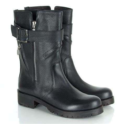 flat biker boots daniel black gower s flat biker boot