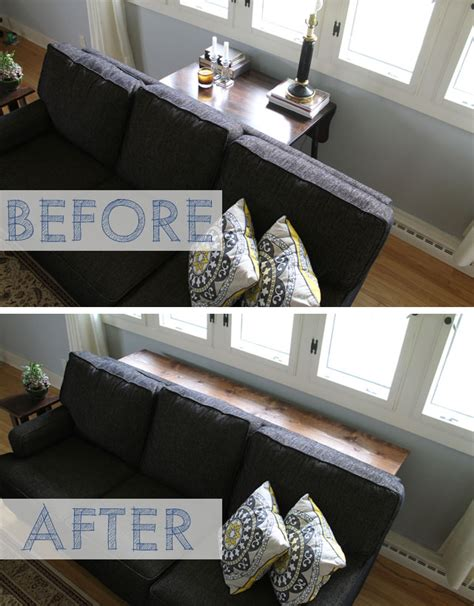 industrial pipe sofa table coming together our diy industrial pipe console table