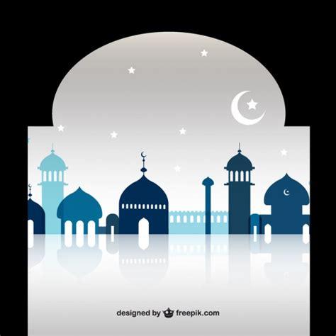 design masjid vector free download ramadan mosque silhouettes vector premium download