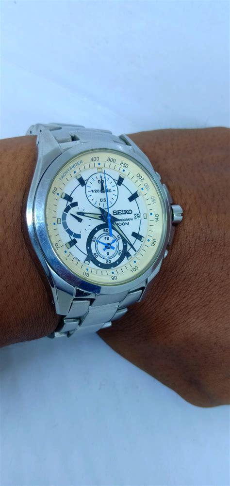 jual jam tangan seiko khronograph original bekas  lapak
