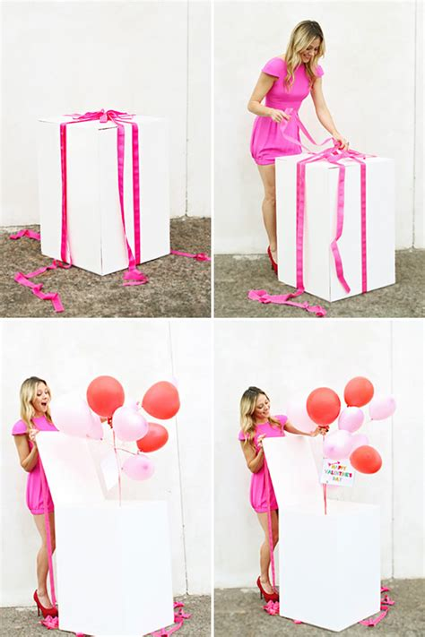 box of balloons surprise cool birthday surprises