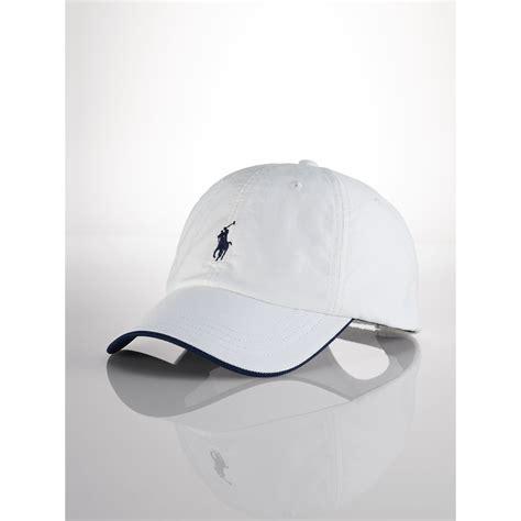 Polo Cap White lyst polo ralph cotton oxford baseball cap in