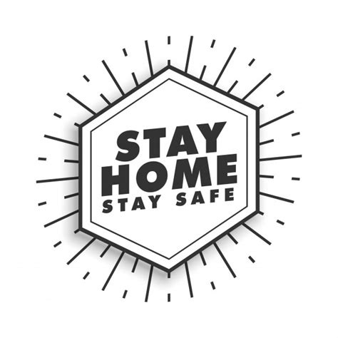 stay home  stay safe motivational poster  vector