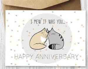 anniversary cards printable anniversary card cat loaf